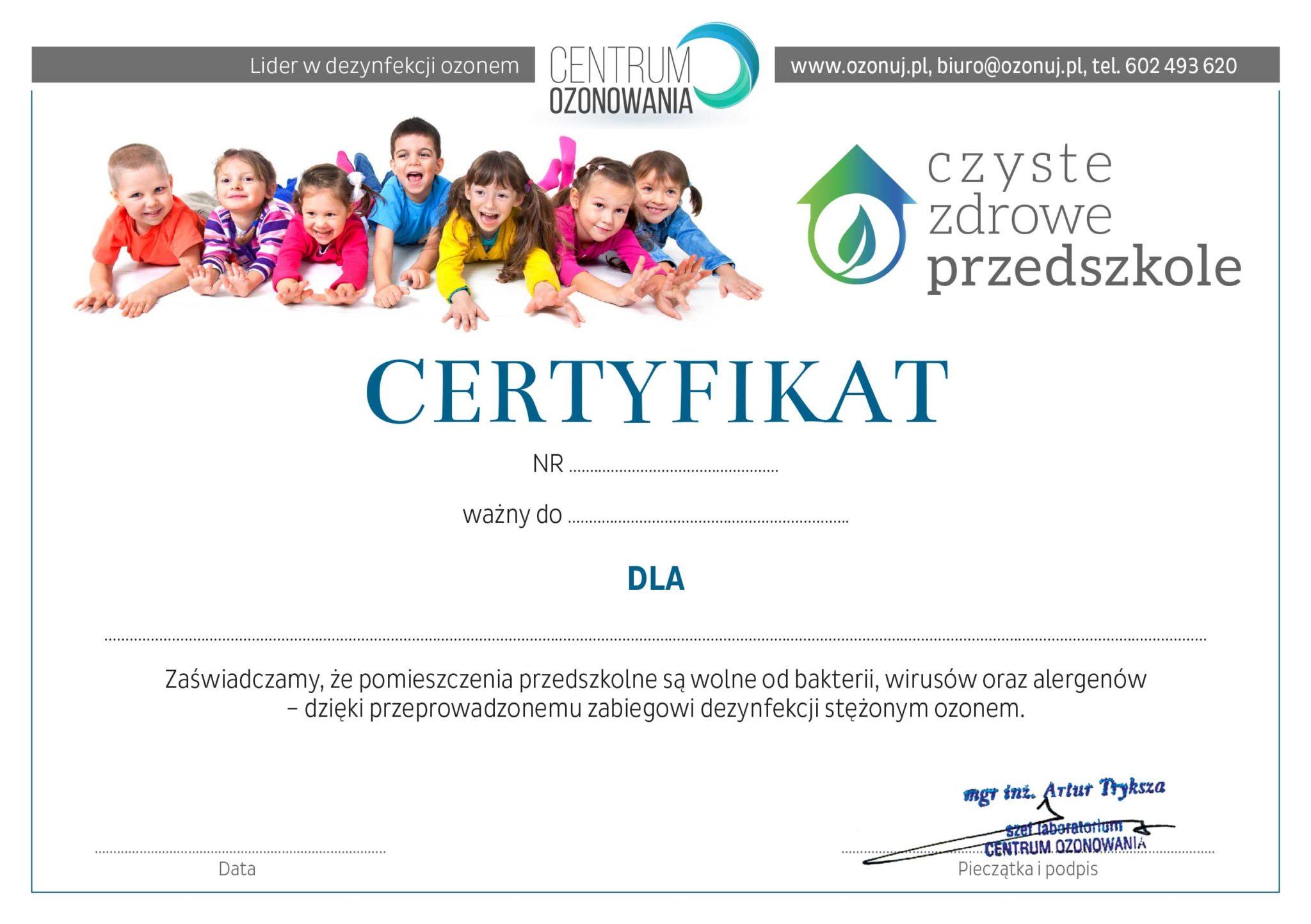 Sezon zachorowań w przedszkolach w pełni. Skuteczna dezynfekcja-ozonowanie-usunie przyczynę chorób - wirusy, zarazki i bakterie